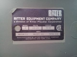 Ritter Exam Chair Ritter F Power Procedure Chair Table