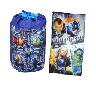 Marvel Avengers Iron Man Hulk Thor Kids Slumber Bag Sleeping Bag Backpack Boys
