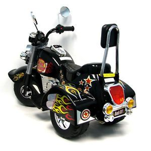 New Battery Operated Harley Style Motorcycle Rider Power Wheels Kids Toy Bike
