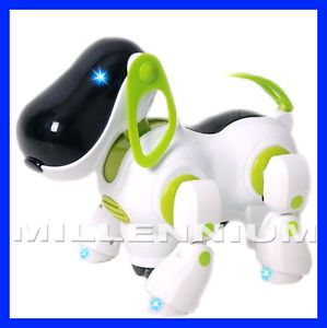 I Robot Robotic Robo Pet Dog Walking Bump N Go Puppy Kids Girl Boy Toy Children