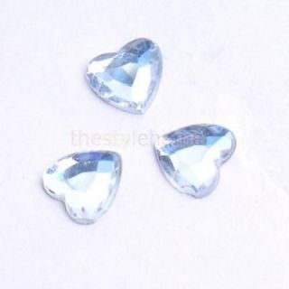 Lot 500pcs 8mm Clear Heart Shaped Wedding Party Table Decorations Favor Acrylic
