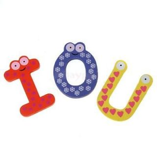 6X A Z Letters Alphabet Wooden Fridge Magnet Carton Kid Education Toy Memo Pin