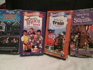 Wee Sing Kids Lot 4 VHS OOP Mansion Toys Train Sillyville Childrens Videos