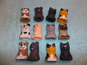 Parrot Bird Toy Parts 12 Vinyl Dog Cat Finger Puppets Great Chews Fun 4 Kids