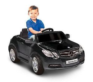 Kids Battery Powered Ride on Toy Black Sports Car Mercedes Benz 6V