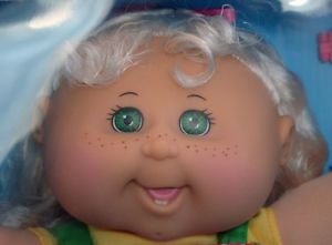 Cabbage Patch Kids Doll Alanna Kimber 2 Teeth Blonde Hair Green Eyes August 13