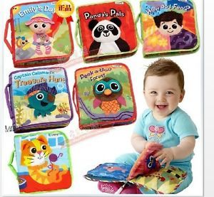 Infant Toddlers Kids Lamaze Soft 3D Cloth Book Set Rattle Crinkle Toy Free SHIP