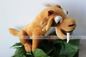 Cartoon Ice Age Plush Toy Soft Doll Kids Stuffed Smilodon Animals Toys Xmas Gift