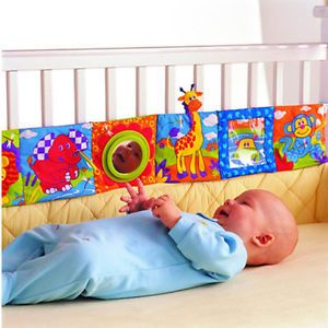 Baby Kid High Contrast Puzzle Zoo Cloth Book Crib Gallery Toy Development
