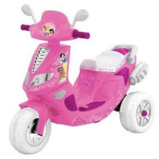 New Kids Battery Powered Toy Princess Disney Motorcycle Scooter Pink Trike