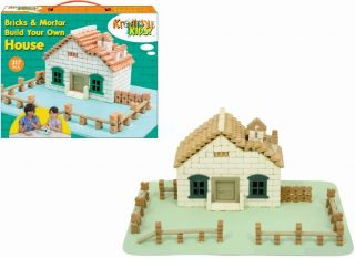 Creative Kids Build Your Own Bricks and Mortar Castle House Girls Boys Toys Gift