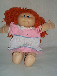 "17"" Xavier Roberts Cabbage Patch Kids Doll Red Yarn Hair Stuffed Animal Plush"