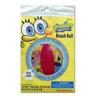 Lot 10 Spongebob Squarepants Kids Inflatable Pool Beach Balls Toy Party Favors