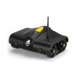 RC Built in Mic Night Vision Spy Tank Camera Remote WiFi Control Robotic Black