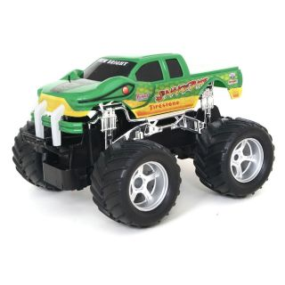 Remote Control Radio Green Monster Truck Car 1 24 Scale Nitro Kids Toy Off Road