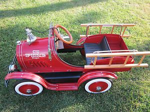 Classic Child's Pedal Fire Engine Truck