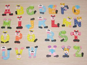 Child Educational Toy 26x Colorful Kids Wooden Alphabet Fridge Magnet A44