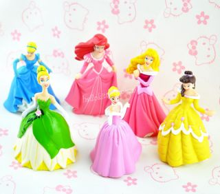 Lot of 6 Kids Girl Favorite Princess Dolls Barbie Collection Gift Movie Characte