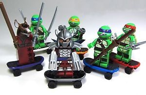 New Teenage Mutant Ninja Turtles Set Mini Minifigure Building Toy Action Kids
