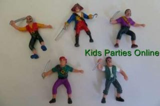 Plastic Pirate Figures Party Cake Decoration Topper Favour Supplies