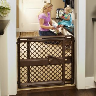 North States Supergate Ergo Baby Child Safety Pet Gate Espresso 8719