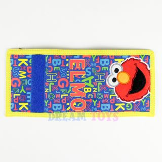 Sesame Street Elmo Trifold Wallet Colorful Alphabets Blue Velcro Boys Kids
