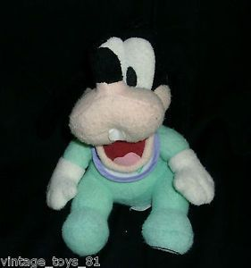 "8"" Baby Goofy Stuffed Animal Plush Walt Disney World Bean Bag Kids Toy RARE"