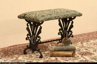 Art Deco 1920's Antique Cast Iron Bench