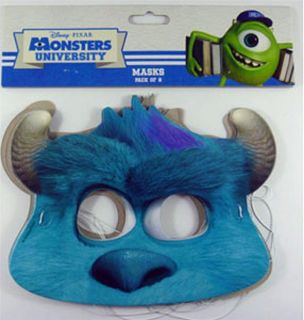 Monsters University Masks Pack of 8 Boys Girls Birthday Party Supplies Favor