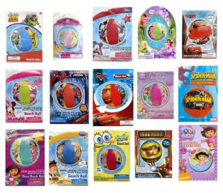 Lot 10 Licensed Characters Kids Inflatable Pool Beach Ball Party Favors Birthday