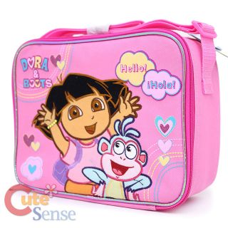 Dora The Explorer Dora Boots Kids School Lunch Box Snack Bag Hello