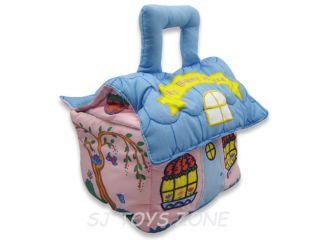 Soft Toy Fabric Cloth Bunny House Play Bag Pretend Play Kids Toy Gift