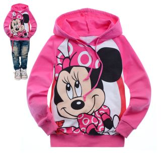 U Pick 2 8 Years Toddlers Kids Girls Minnie Mouse Long Sleeve Hoodie Tops HD6067