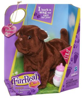 New Kids FurReal Friends Newborn Chocolate Brown Lab Dog Pet Children Soft Toy