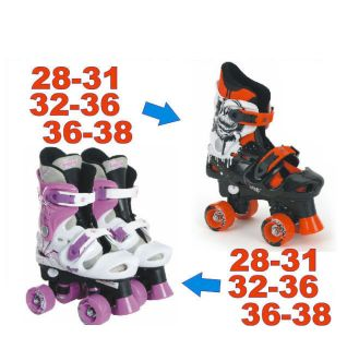 Osprey Boys Girls Kids Adjustable 4 Wheel Quad Roller Skates Boots