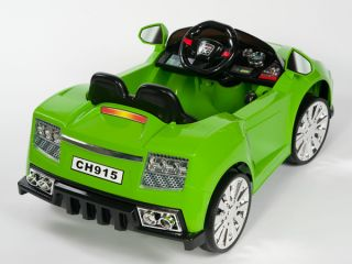 Racer x Green 12V Kids Ride on Car Electric Powered Wheels  Remote Control