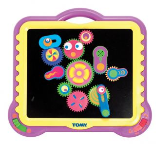 Tomy Colorful Rotating Gearation Magnet Toy Set New