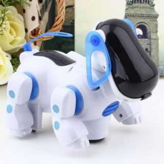 New Robotic Cute Electronic Walking Pet Dog Puppy Kids Toy with Music Light HS