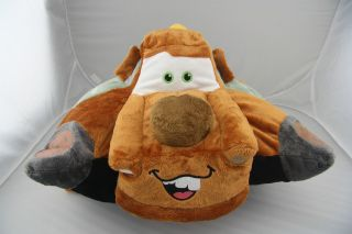 CUDDY Disney Cars Tow Mater Cool Children Transforming Pets Car Sofa Pillow Pet