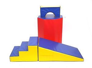 Childrens Gymnastic Soft Play Kids Tumbling Mat Toy Incline Wedge Arch Bridge