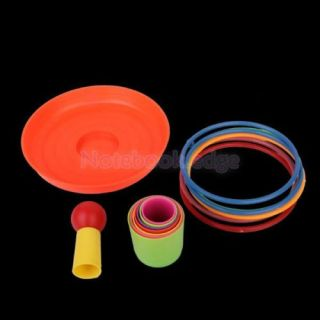 5X Set of Colorful Detachable Plastic Ring Toss Toy for Child Educational Game