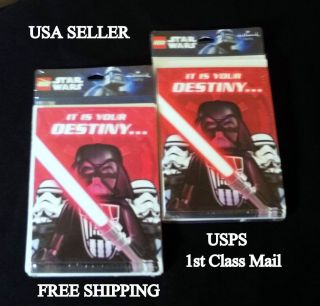 Lego Star Wars Invitation Cards Boy Girl Birthday Party Favors Supplies 2pk