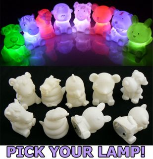 One Flash LED Light Lamp Kid Animal Party Bag Decoration Gift Favor Props Supply