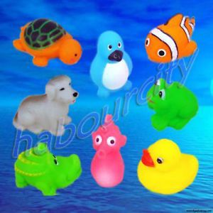 Set 8 Baby Toddler Infant Kids Bath Float Toy Animals