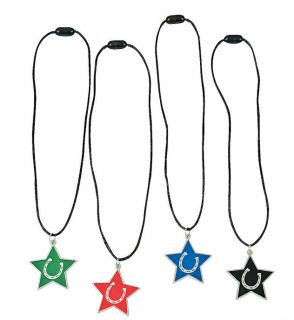 8 Star Horseshoe Necklaces Horses Western Cowgirl Cowboy Farm Pony Party Favors
