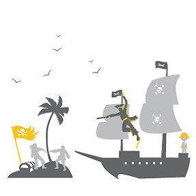 Pirates Theme Wall Decal Stickers Bedroom Kids Child Boys Infant Baby SHIP