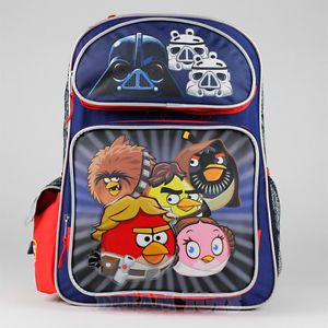 "16"" Large Angry Birds Star Wars Backpack Book Bag Boys Girls Kids"