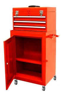 Top Chest w 3 Sliding Rolling Cabinet Tool Storage Chest Toolbox Mechanic