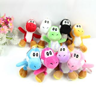 Lot 9 Pcs Set Super Mario Bros Yoshi Plush Toy Doll New