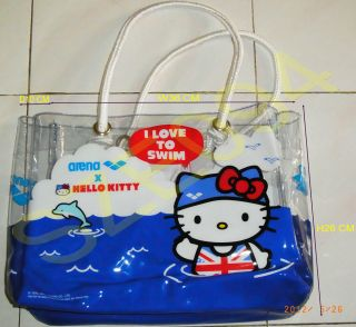 Sanrio Hello Kitty Arena Function Bag Tote Bag Swimsuit Waterwear Beach Bag Kids